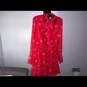 Xhileration Ruffle Floral Dress